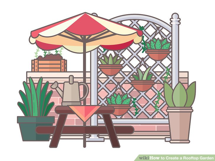 Roof clipart rooftop. How to create a
