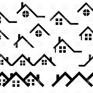 Roof clipart silhouette. House at getdrawings com