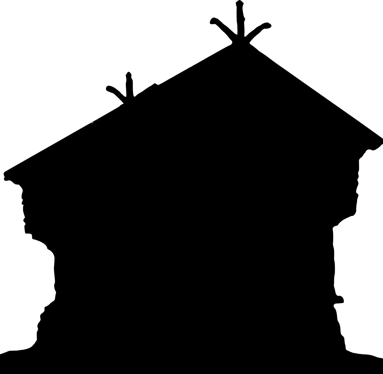 Roof clipart silhouette. At getdrawings com free