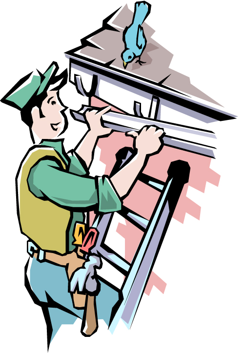 Roofing clipart cartoon. Roof gutters clipground nisartmacka