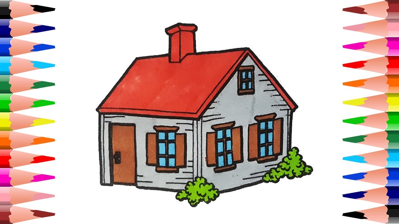Roofing clipart house paint. How to draw and