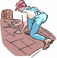 Roofing clipart man. Roof repair some indicators
