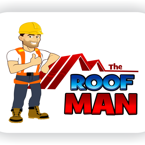 Roofing clipart man. Logo for the roof
