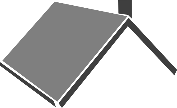 Roofing clipart transparent. Black and white roof
