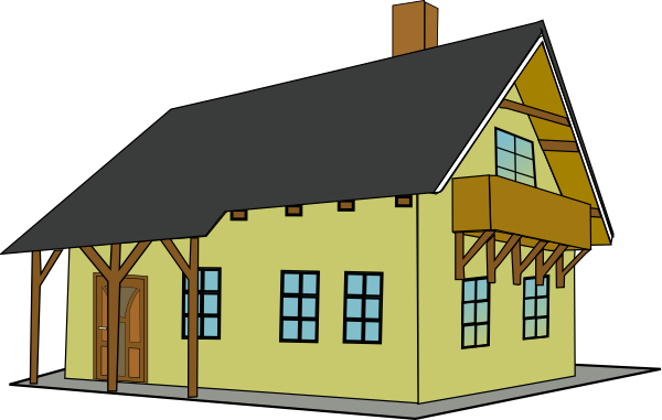 Roofing clipart transparent. Clip art house with