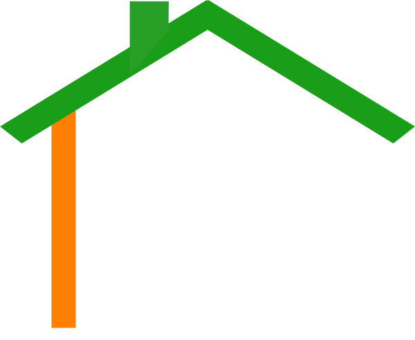 Roofing vector rumah. Irish house roof clip