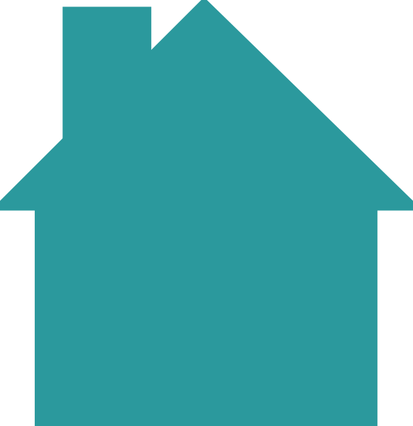 Vector roof rumah. House logo teal clip