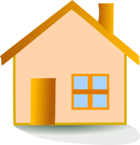 Vector roof rumah. House icon clip art