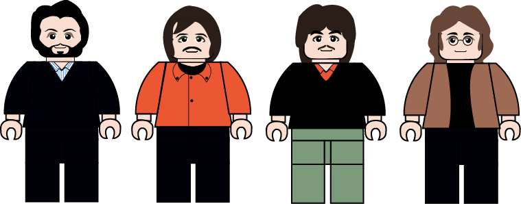 Rooftop vector animated. The beatles concert lego
