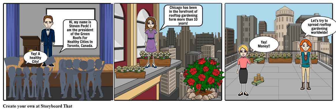 Rooftop vector animated. Gardens storyboard by chloe