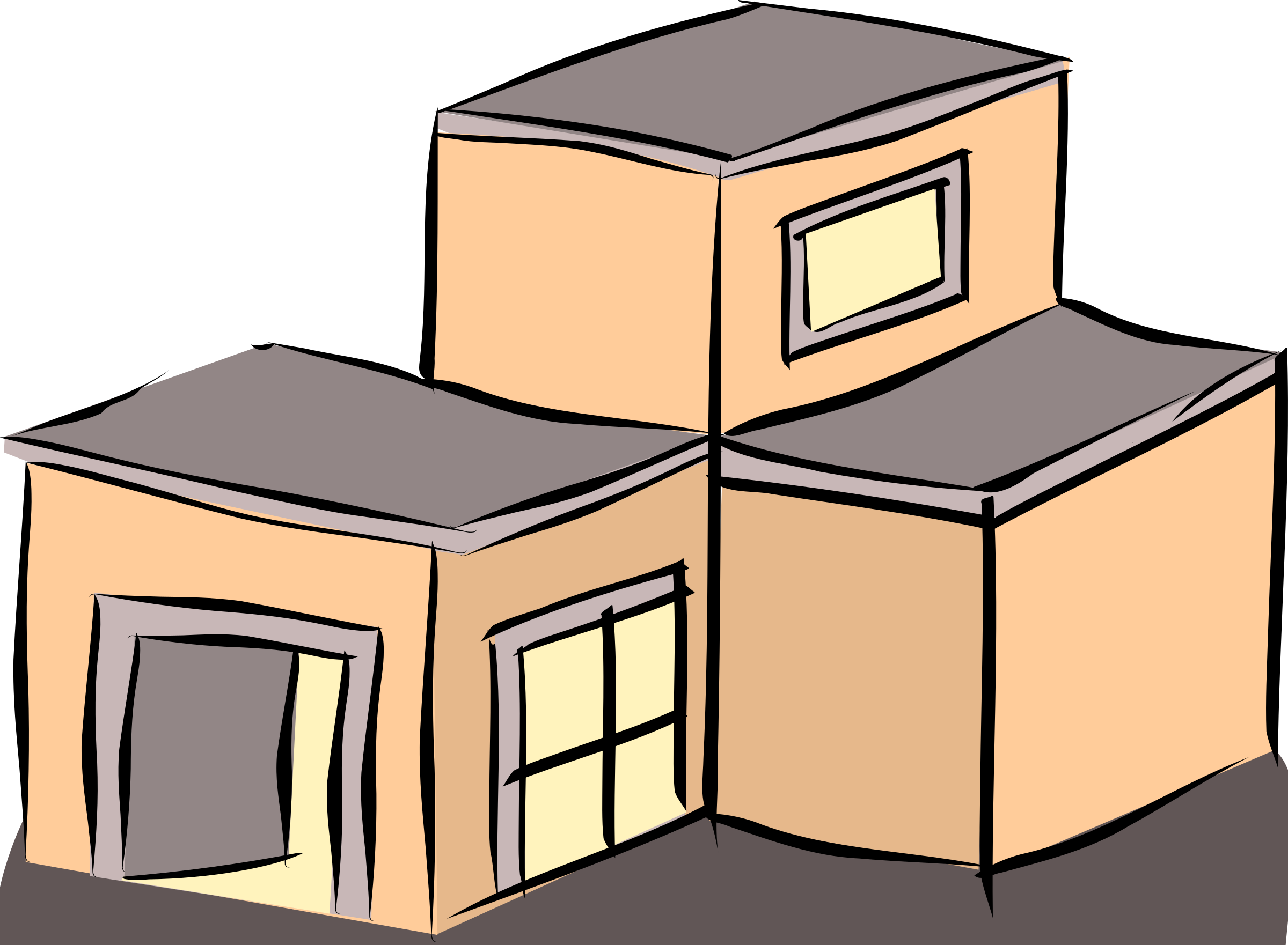 Rooftop vector building. A house graphic