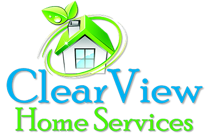 Rooftop vector home window. Clearview services quality cleaning