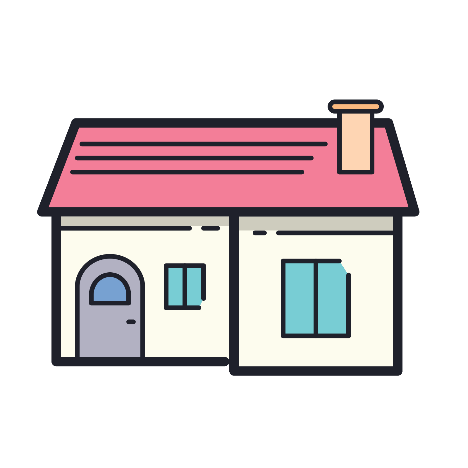 Rooftop vector home window. Icon free download png
