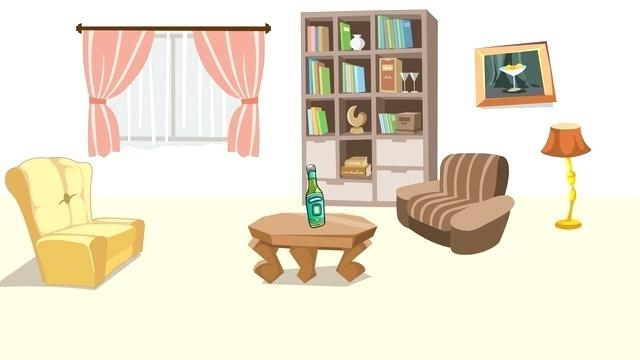 Room clipart animated. Cartoon living thedudesguide org