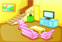 Room clipart sitting room. Living with tv