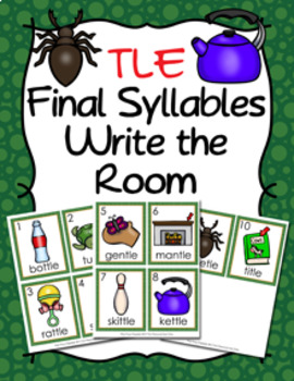Room clipart tle. Final stable syllable words