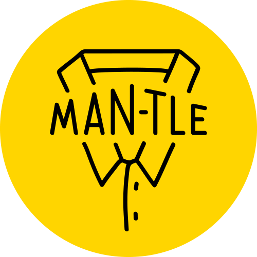Room clipart tle. Man logo yellow trim