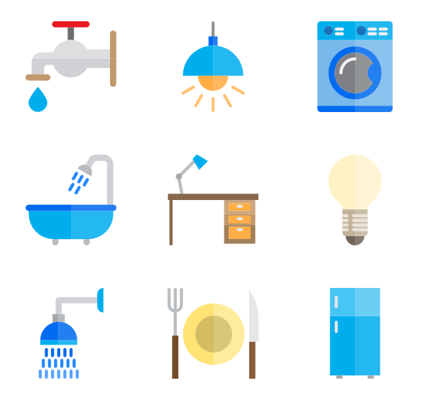 Room vector. Icons free household