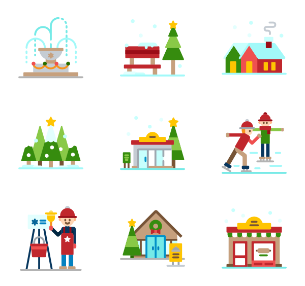 Powerpoint vector infographic. House icons free christmas