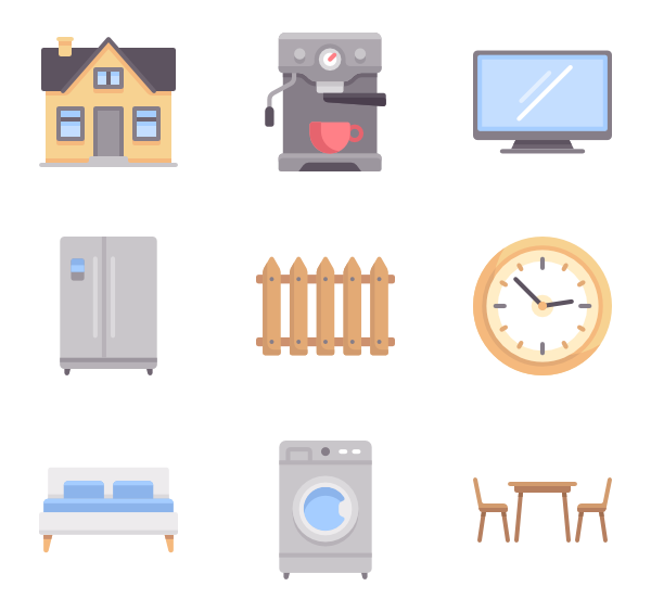 Room vector colorful. Icons free home and