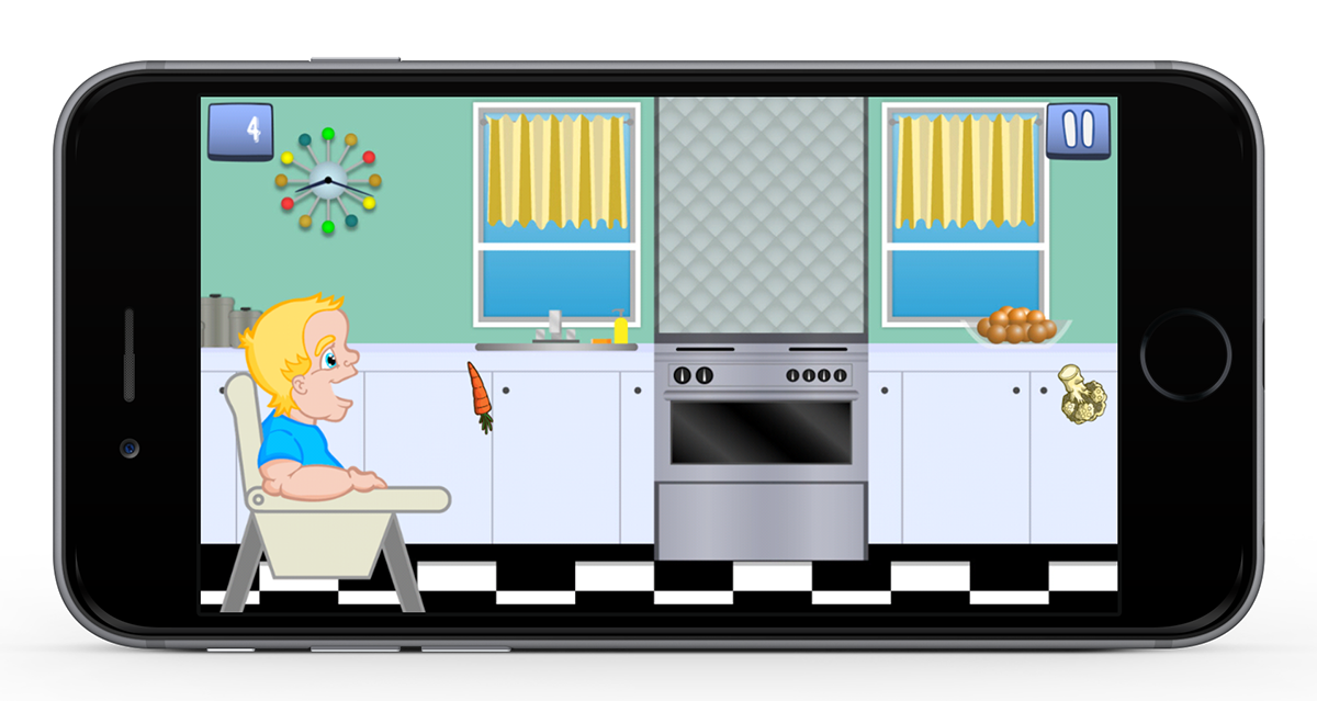 Room vector interior. Eat your vegetables on