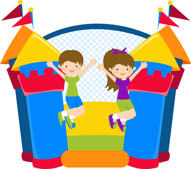 Room vector party. Book your bouncy castle