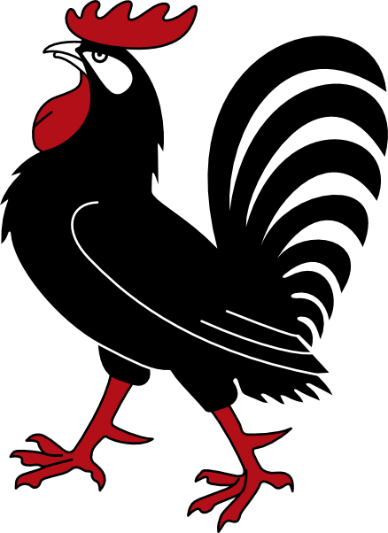 Cartoon download vector about. Rooster art png black and white stock