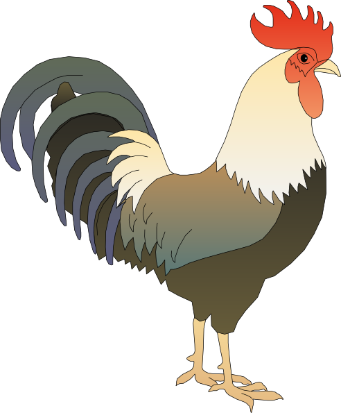 Clip art at clker. Rooster clipart vector royalty free