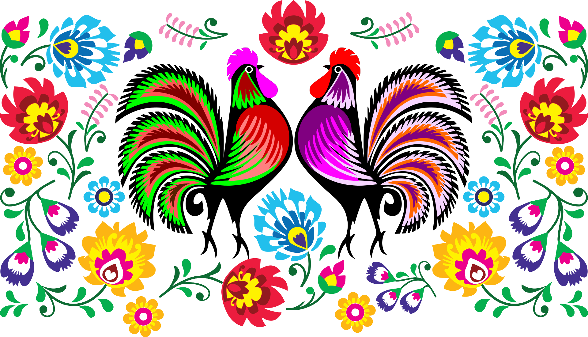 Rooster clipart colourful. The year of