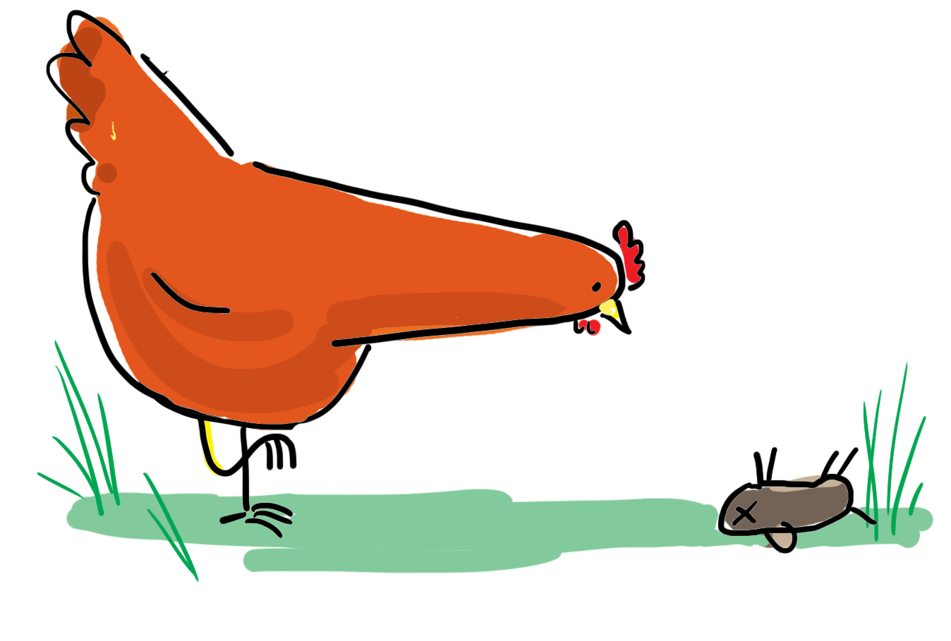 Rooster clipart dead. Scratch and peck daisy