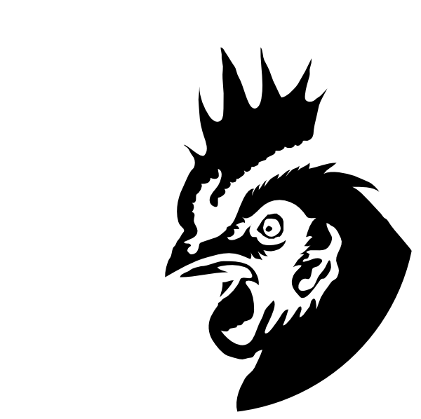 Rooster clipart face. Head silhouette at getdrawings