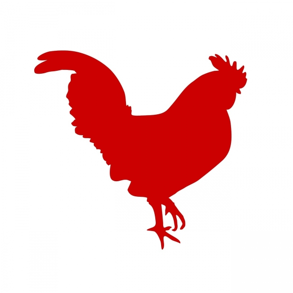 Rooster clipart red chicken. Silhouette images at getdrawings