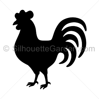 Rooster clipart svg. Silhouette clip art download