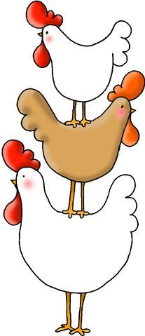 Rooster clipart whimsical. Ouch chicken art by