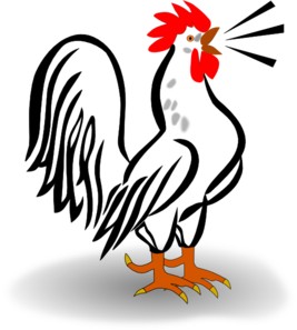 Rooster clipart whimsical. Clip black and