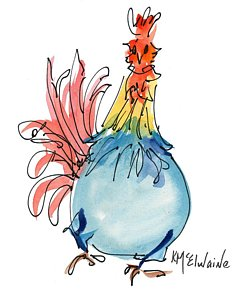 Rooster clipart whimsical. Paintings page of fine