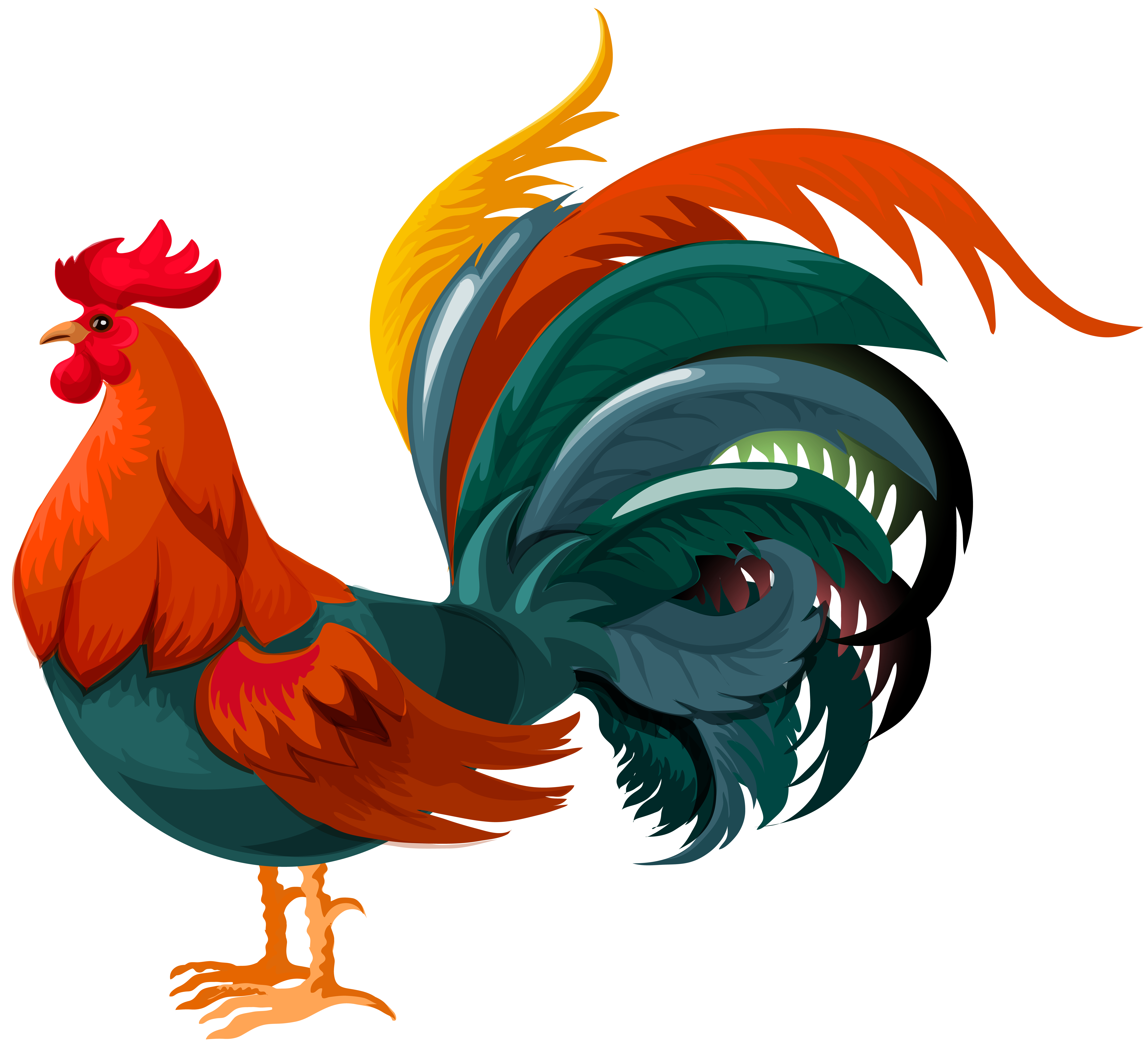 Rooster clipart. Transparent png clip art