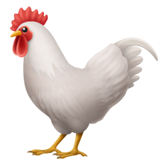 on apple ios. Rooster emoji png black and white stock