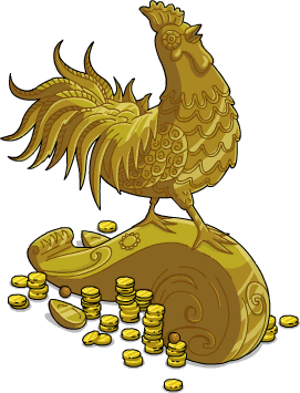 Rooster statue png. Year of the simpsons