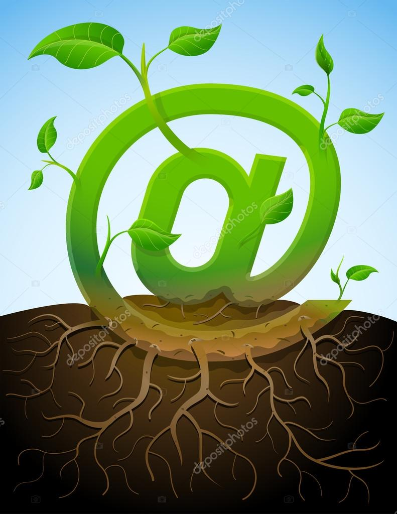 Roots clipart 10 leave. Growing mail symbol like