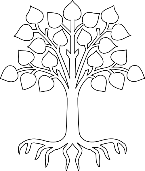 Roots clipart. Tree with white clip