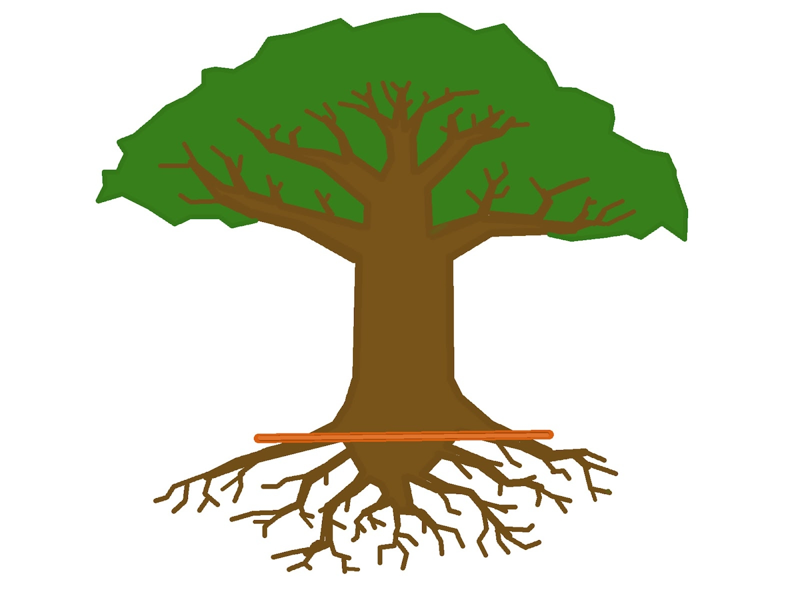 Roots clipart. Tree with at getdrawings