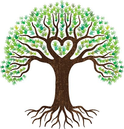 Tree heart shyam thoughts. Roots clipart clipart free