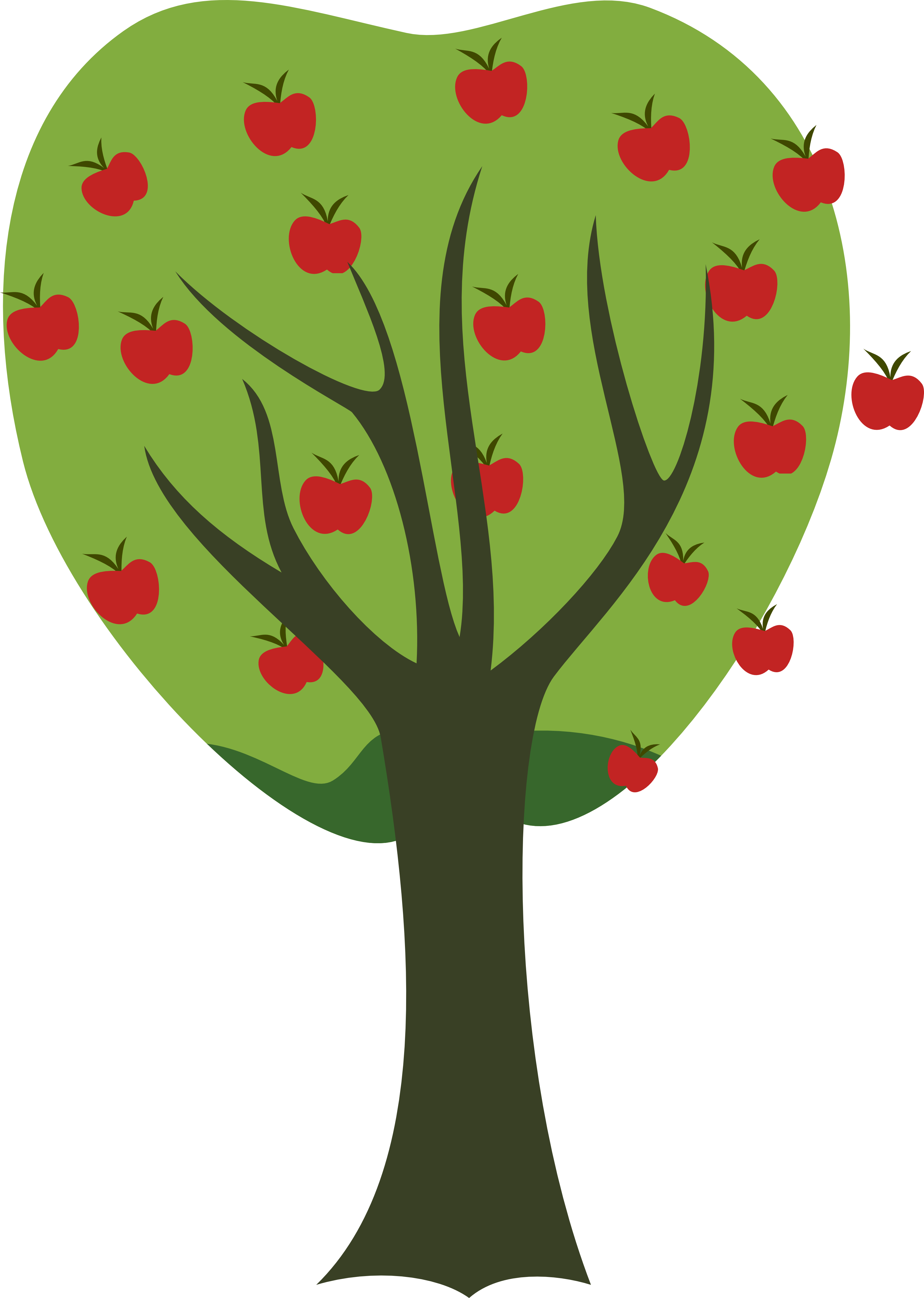 Roots clipart apple tree. Picture of a clip