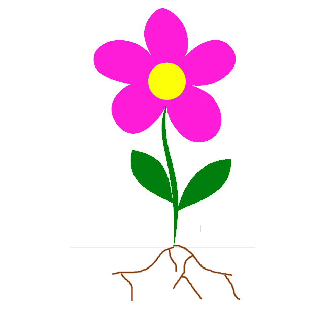 Roots clipart kid. Flowers with flower panda