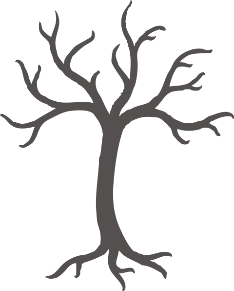 Roots vector png. Grey tree with clip