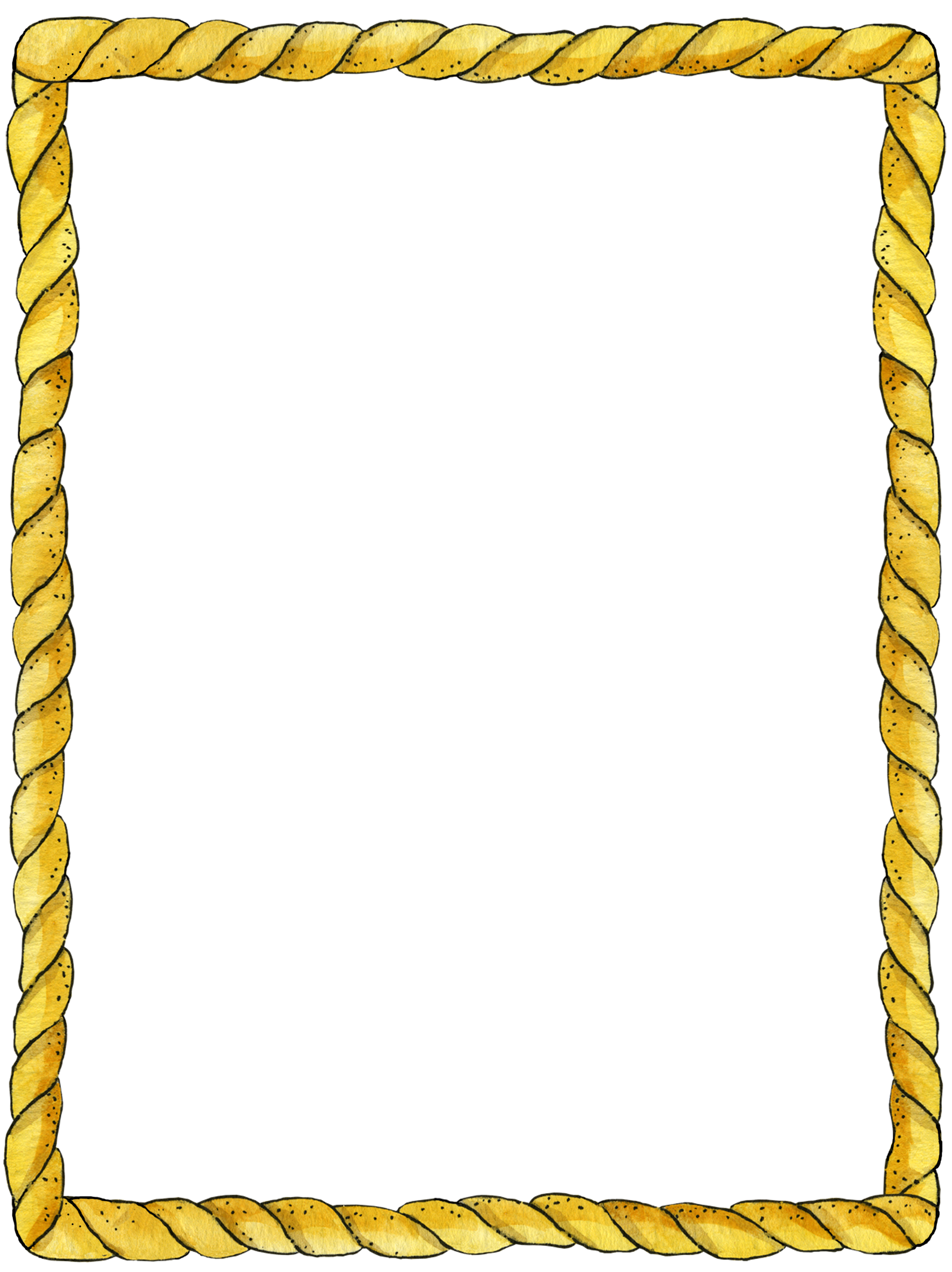 Vector rectangle rope. Frame border and corner