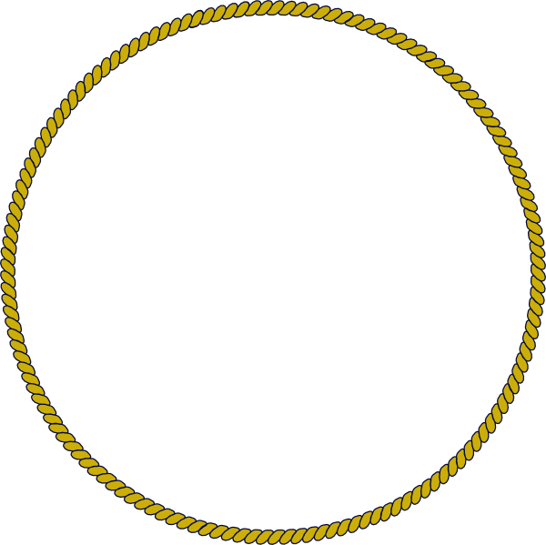Rope circle png. Gold clip art at