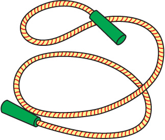 Rope clipart. Skipping