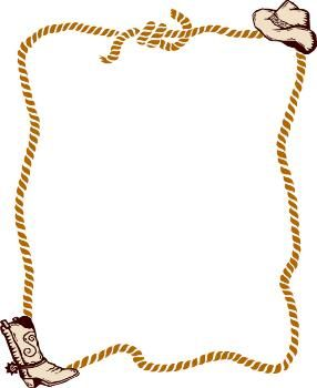 Rope clipart boarder. Free western border clip